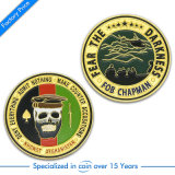 Pièce de monnaie d'or faite sur commande de puissance aérienne d'enjeu/récompense/militaires/police/souvenir