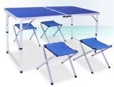 Aluminiumlegierung-beweglicher kampierender Picknick-Tisch