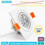Lampe blanche en aluminium carrée Dimmable DEL Downlight de plafond de la haute énergie DEL