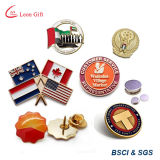 Factory Custom Logo Metal Silver Lapel Pins