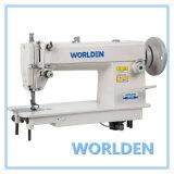 Máquina de coser de alta velocidad del punto de cadeneta de la alimentación de la tapa y de la parte inferior del deber Wd-202
