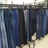 Pantalones vaqueros flacos elásticos de las señoras (HYQ117-01GDT)