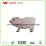 Figurine свиньи Polyreisn симпатичный Wildlike с радушным знаком для орнаментов сада