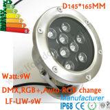 Baja luz subacuática de la fuente de la lámpara LED de la tensión 9W 12W 18W con IP 68 impermeable