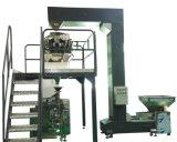 Transportador de acero pintado del elevador de compartimiento con el enchufe de descarga tres