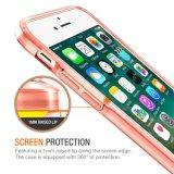 Cubierta dura protectora clara resistente de choque del rasguño de parachoques superior de la absorción TPU para el iPhone 7
