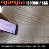 Etiqueta engomada imprimible adhesiva escribible de la etiqueta de la aduana 13.56MHz RFID NFC