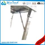 Tabella di lavoro mobile del tubo del quadrato dell'acciaio inossidabile con il piedino registrabile di altezza per trasporto