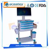 Drahtlose Krankenpflege-Computer-Tisch-Laufkatze, Computer-Arbeitsplatz-Karre (GT-QNT1201)