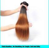 Atacado de Remy do brasileiro extensão do cabelo humano 1b 27 cabelo Ombre