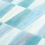 Standardgrößen-Aqua-Fußboden-Fliese-Pool-Glasmosaik für Badezimmer