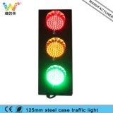 小型鋼鉄ハウジング125mmの赤い黄色緑の交通信号ライト