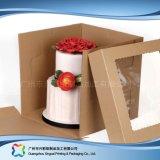 Rectángulo de torta de empaquetado de papel de la cartulina linda con la ventana (xc-fbk-041A)