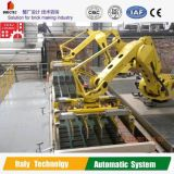 Secador automático del ladrillo de la arcilla con el cargamento y el sistema de la descarga