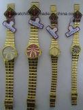Reloj de pulsera de oro antiguo para los amantes