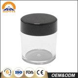Frasco plástico personalizado preto para o cuidado da face