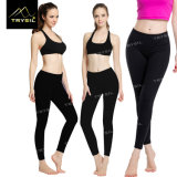 Dame Yoga Legging Polyester/Spandex-Sport-Hose