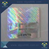 Os números Running projetam a etiqueta do holograma