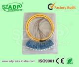 12 câble de fibre optique de tresse du tresse 0.9mm de SM de faisceau avec des connecteurs de rue de Sc LC de FC
