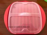 Fogão plástico do silicone do bacon da micrôonda
