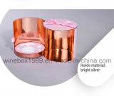 Rectángulo rosado cosmético cilíndrico del ocio de Eco de la cartulina cómoda del papel