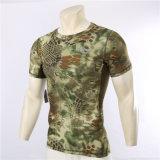 Esdyの夏のワイシャツのカムフラージュの速乾燥のTシャツの人