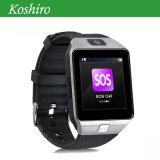 Telefone móvel do relógio do GPS com o monitor da frequência cardíaca de pressão sanguínea