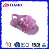 Fragile con il sandalo delle ragazze di fiore del tessuto (TNK35813)