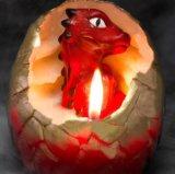 Vela creativa del huevo de dinosaurio de la trama del OEM para la decoración