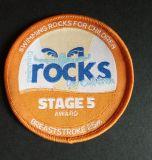 una serie di distintivo tessuto fase della roccia