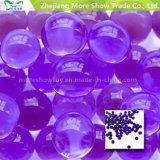 弾丸のゲルの球の小型円形の紫色の水晶土水ビード