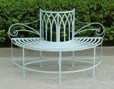 ゴシック様式Antirust Wrougntの鉄のBackyondの木のベンチ及び公園のベンチ