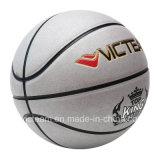 Серебряный баскетбол тренировки нормального размера PVC кожаный
