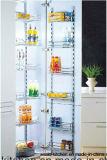 Gabinete de cozinha lustroso elevado SL-P-16 do PVC