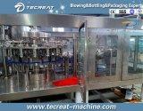 Cadena de producción pura mineral en botella del agua planta