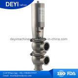 Soupape pneumatique sanitaire d'inversion d'acier inoxydable