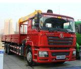 Guindaste montado do camião de guindaste do braço de Shacman 10tons caminhão Foldable