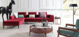 Sofá simple #Ms1406 de la tela moderna seccional del sofá de la alta calidad