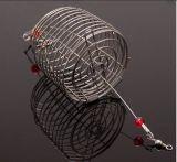 Trois tailles Matériau en acier inoxydable Chargeur de cage de pêche avec pivot