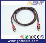 ナイロン組みひもが付いている高品質HDMIケーブル