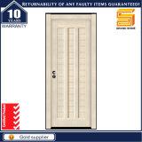 Porte en bois composée solide intérieure moderne de mélamine stratifiée par PVC en bois