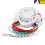 En forme de coeur Eco-Friendly Custom Tape Measure Precision BMI Calculator Wheel