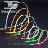 Atadura de cables de autoretención plástica del nilón 66