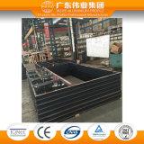 Tissu pour rideaux d'interruption thermique et guichet en bois en aluminium de difficulté avec deux panneaux de guichet
