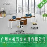 Nueva mesa de trabajo modular de oficina de muebles de diseño con pie de acero