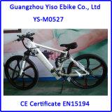 bicicleta elétrica escondida suspensão da sujeira da bateria do motor 350W
