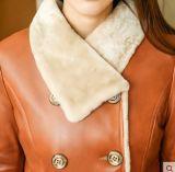 Пальто Shearling зимы реальное и пальто шерсти для повелительницы Длинн Типа
