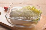 Ciotola multiuso di vetro quadrata creativa di Giass dell'insalata della ciotola