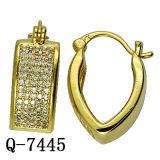 형식 보석 마이크로 컴퓨터는 조정 도금된 금관 악기 귀걸이 14k 금을 포장한다