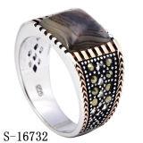 925 فضة نمو مجوهرات حلقة مع عقد طبيعيّة